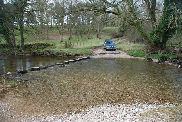 Ford and Stepping Stones at High Whitber