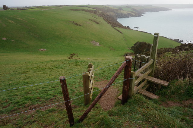 Steep path down Beacon Hill