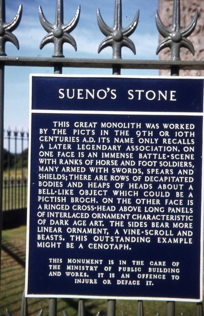 Information board at Sueno's Stone