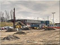 SD7807 : Building Work at Radcliffe Metrolink Station by David Dixon