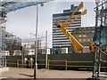SJ8499 : Redeveloping Victoria's Tram Stop, March 2014 by David Dixon