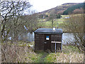 NT1028 : River monitoring station on the River Tweed by Oliver Dixon