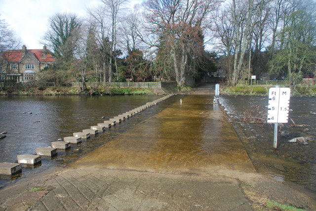 Closed Ford and Stepping Stones at Stanhope