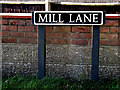 TM3792 : Mill Lane sign by Adrian Cable