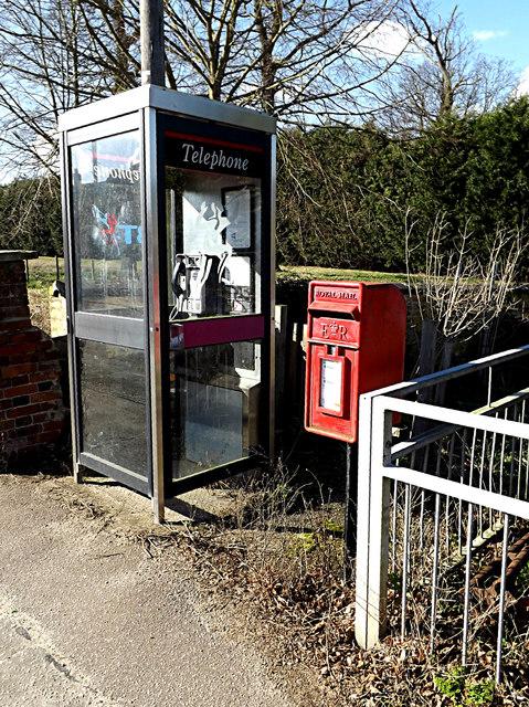 Telephone Box & Yarmouth Road Postbox