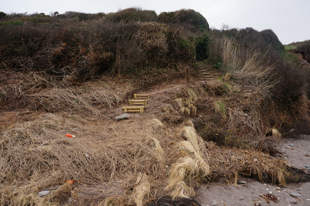 Steps up from Wadham Beach