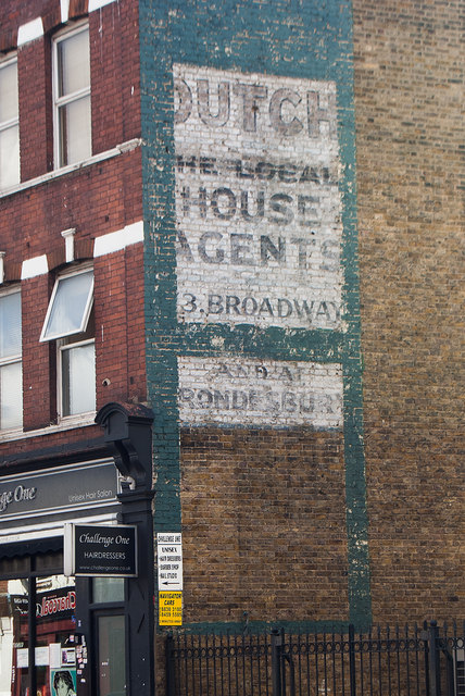 Ghost sign, High Road, Willesden