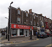 SS7597 : Peter Morgan estate agents & surveyors office in Neath by Jaggery