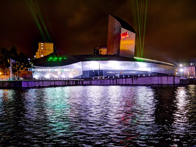 Lasers on the Imperial War Museum North