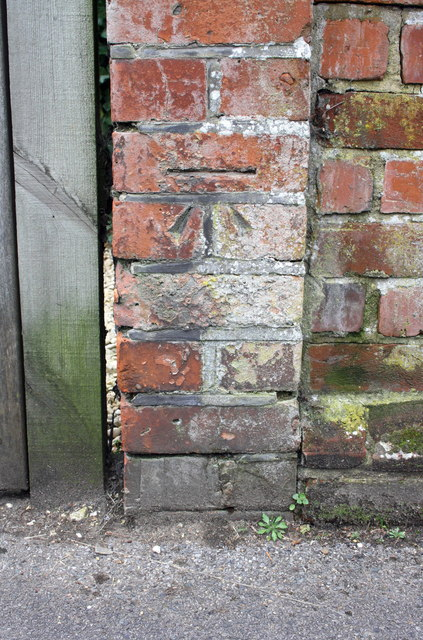 Benchmark on end of party wall between #31/#33 Albert Road