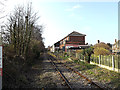 TM4462 : Railway Line & Leiston Railway Station by Adrian Cable