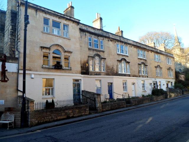 Row of 3-storey houses, Walcot Street, Bath