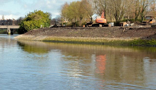 Revetment works, River Lagan, Belfast - March 2014(4)