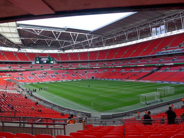 An empty Wembley Stadium