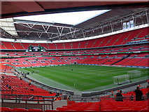 TQ1985 : An empty Wembley Stadium by Basher Eyre