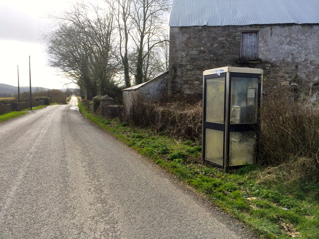 Telephone box at Lisnacloon