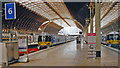 TQ2681 : Paddington Station, Heathrow Express platforms, July 19 2000 by Ben Brooksbank