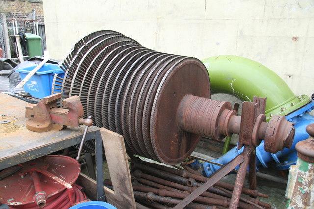London Museum of Water & Steam - turbine rotor