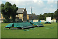 TQ3377 : The wicket covers, Burgess Park Sportsground by Robin Stott