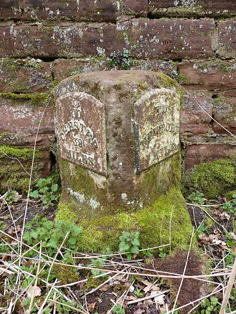 Old milestone, Chetwynd Road