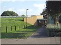 TQ3377 : Loncroft Road entrance, Burgess Park Community Sports Centre by Robin Stott