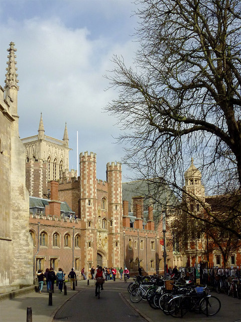 Trinity Street and St John's Great Gate, Cambridge