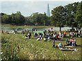 TQ3377 : Sunday barbecues by the lake, Burgess Park by Robin Stott