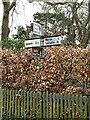 TM2139 : Roadsign on Ipswich Road by Adrian Cable
