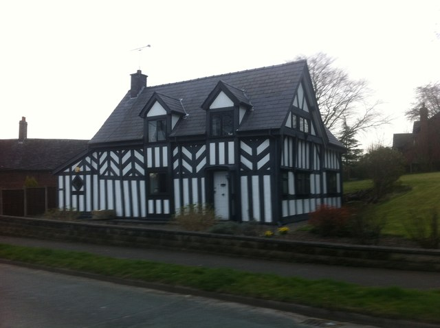 Half-timbered home on Audley Road