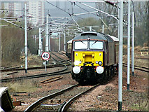 NS6162 : The Winter West Highland Statesman approaching Rutherglen railway station by Thomas Nugent