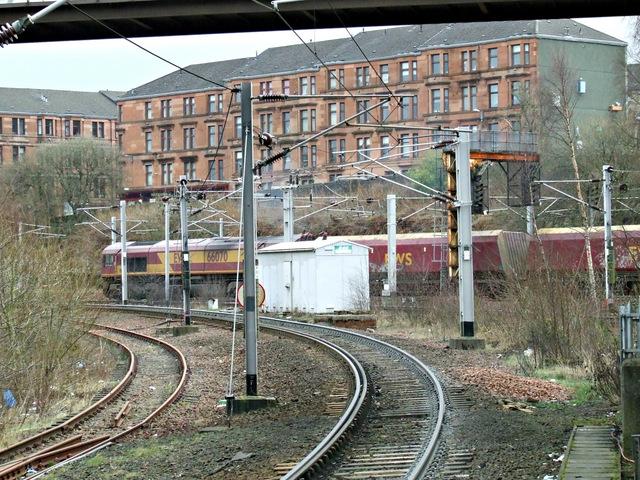 Coal train passing Rutherglen station
