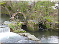 SK2268 : Sluice at the end of the weir on the River Wye by Humphrey Bolton