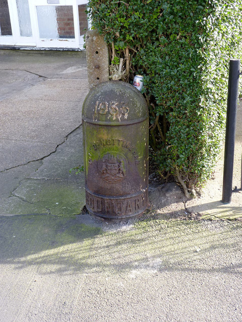 City of Nottingham boundary post