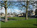 SK2470 : The green and school, Pilsley by Humphrey Bolton