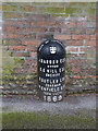 SK5741 : Boundary Marker, Redcliffe Road by Alan Murray-Rust