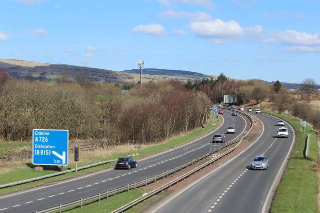 M898 to and from the Erskine Bridge