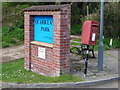 ST6317 : Sherborne: postbox № DT9 11, Quarr Lane Park by Chris Downer