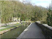 SK3155 : The canal aqueduct at Leawood by Humphrey Bolton