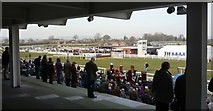SO4877 : Grandstand, crossing point and fences at Ludlow Racecourse by Clint Mann
