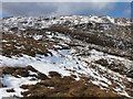 NG8821 : Moorland above the Bealach Ratagain by wrobison