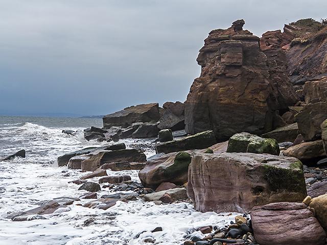 Fife coast at Blair Point