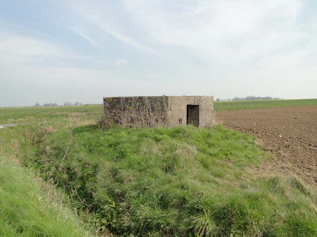Pillbox in Metfield north-west of the old airfield