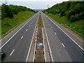 ST5887 : Motorway cutting near Ingst by Jaggery