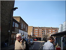 TQ3386 : View up Barn Street from Stoke Newington Church Street by Robert Lamb