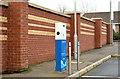 J3584 : E-car charge point, Jordanstown by Albert Bridge