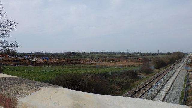 Ridgeway Farm construction site, March 2014