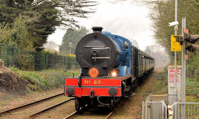 Steam locomotive no 85, Jordanstown (March 2014)
