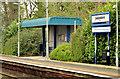 J3584 : Passenger shelter, Jordanstown station - March 2014 (2) by Albert Bridge