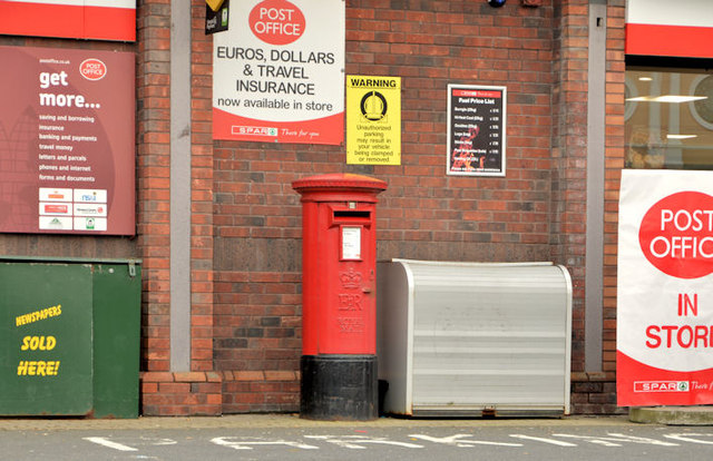 Pillar box BT37 256, Whiteabbey