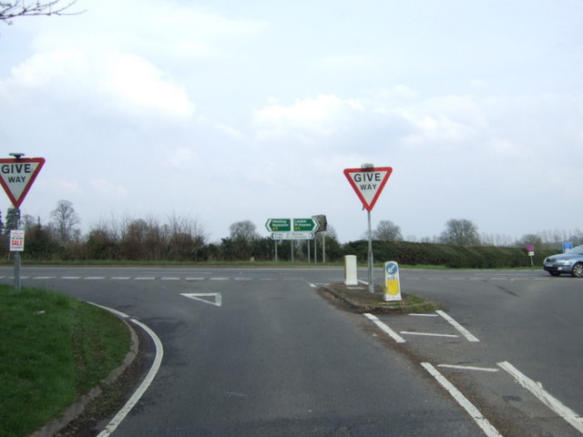 Junction of Daventry Road with the A5 by JThomas